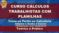 Curso de Cálculos Trabalhistas Completo e com Planilhas