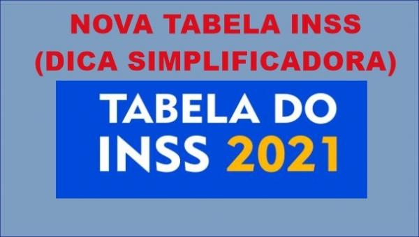 Nova Tabela INSS SIMPLIFICADORA